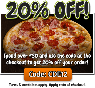 Spend over £30 online and get 20% off your order! Simply use code CDE12 at the checkout.