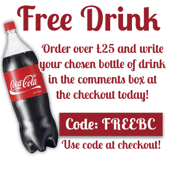 Free bottle of drink on orders over £25