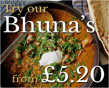 Bhuna's from £5.20
