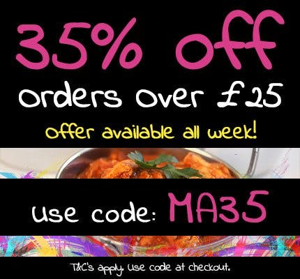 Get 35% off orders over £25 when you apply the code