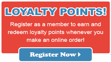 Earn loyalty points when you register as a member online!