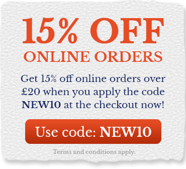 Get 15% off orders over £20 when you apply code NEW10 at the checkout!