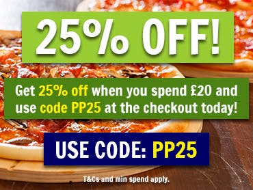 25% off orders over £20 when you use code PP25 at the checkout! T&Cs and min spend apply.