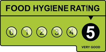We have a five star food hygiene rating!