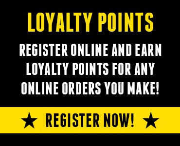 Earn and redeem loyalty points for every online order you make through our website! Register today!