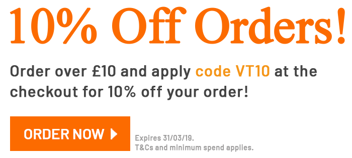 10% off orders over £10