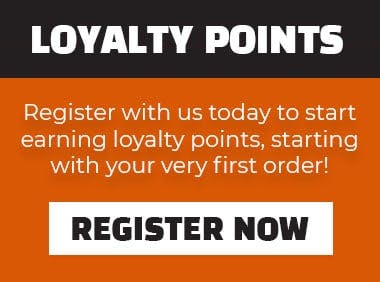 Register with us today to start earning loyalty points, starting with your very first order!