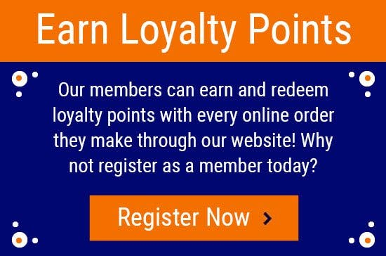 Earn and redeem Loyalty Points when you register as a member today!