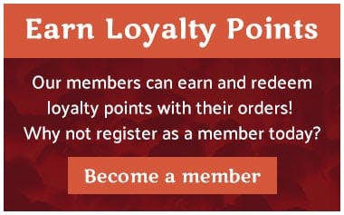 Earn and redeem loyalty points when you register as a member online!
