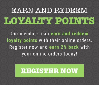 Earn and redeem loyalty points with your online orders today!