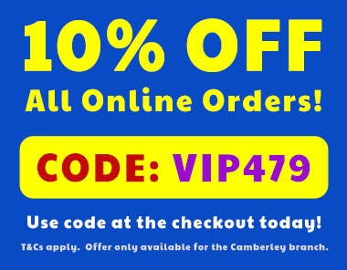 10% Off Online Orders when you use code VIP479 at the checkout!