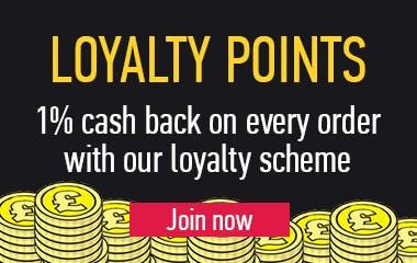 1% cash back loyalty points banner