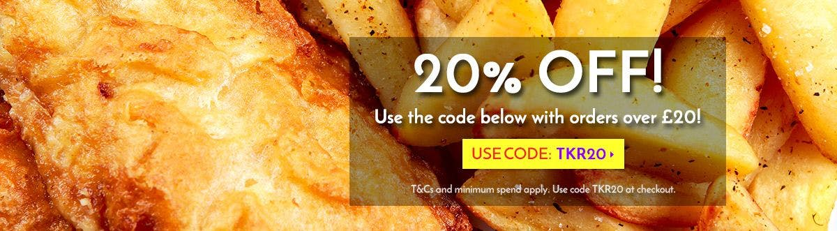 20% Off orders over £20