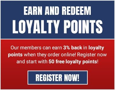 Earn loyalty points when you register online as a member!