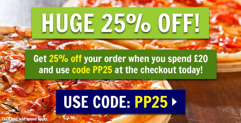 25% off orders over £20