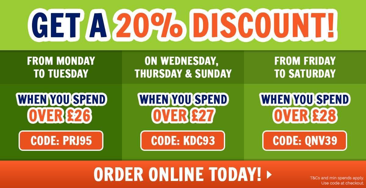 20% Off Orders!