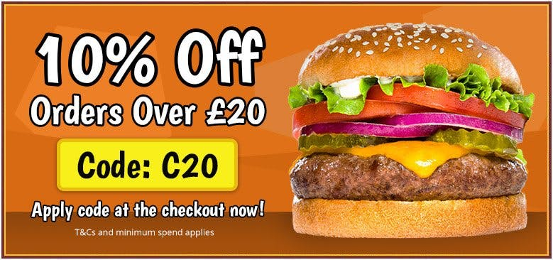 10% Off orders over £20
