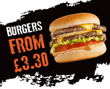 Burgers from £3.30
