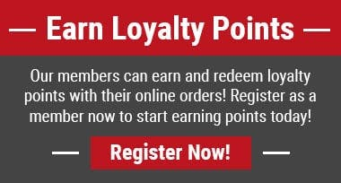 Earn loyalty points when you register as a member today!