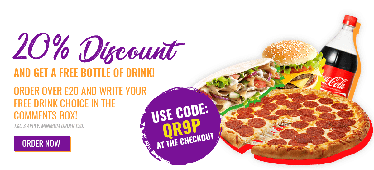 20% Off Discount with Free Drink