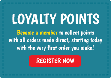 Earn loyalty points with your orders when you register as a member with us! Register now!