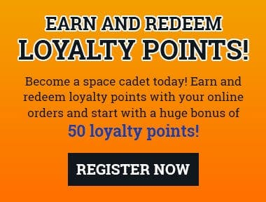 Become a space cadet today to earn and redeem loyalty points with your online orders!