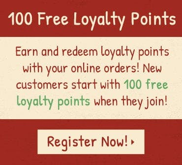 Become a member to earn and redeem loyalty points! New members start with 100 free loyalty points. Register now!
