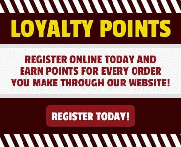 Register today to earn and redeem loyalty points with every online order you make!