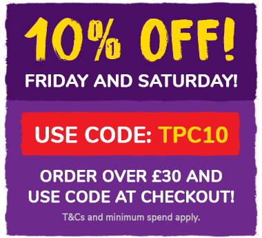 10% off Friday to Saturday! Order over £30 and use code TPC10 at the checkout! T&Cs and min spend apply.