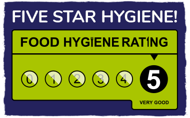 Five Star Hygiene Rating!