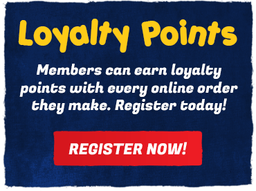 Earn loyalty points with your online orders when you register as a member today!
