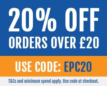 20% off orders over £20 with code EPC20! T&Cs apply.