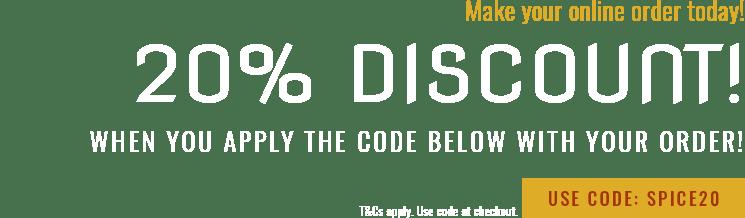 20% Off Orders