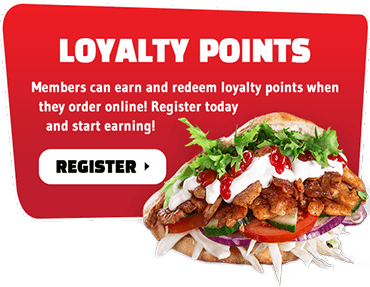 Earn and redeem loyalty points with your online orders when you register as a member today!