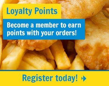 Our members can earn and redeem loyalty points with their online orders! Register today!