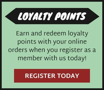 Earn and redeem loyalty points when you register as a member!