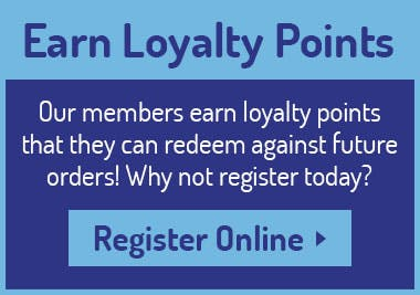 Earn loyalty points whenever you make an online order! Register today!