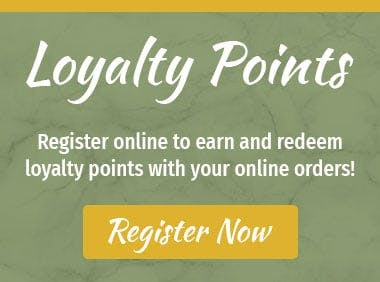 Register to earn points with your orders!