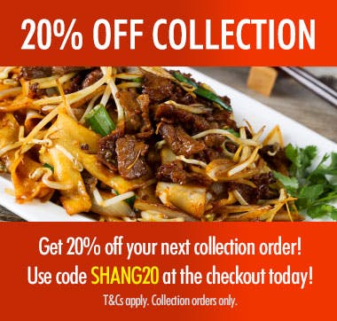 20% Off Collections when you use code SHANG20 at the checkout! T&Cs apply.