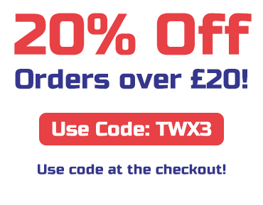 20% Off orders over £20 with code TWX3! T&Cs apply, use code at checkout.