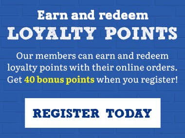 Earn and redeem loyalty points with your online orders!