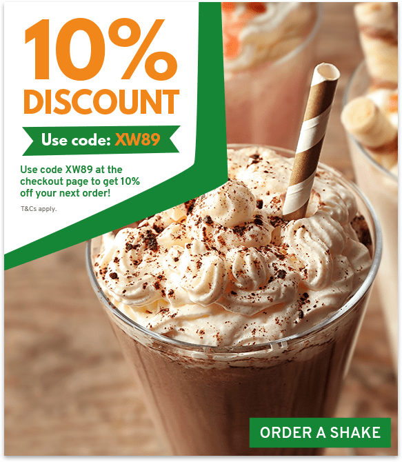 Order a super shake from Pizza & Shake