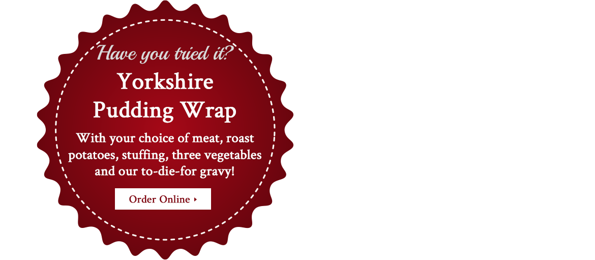 Yorkshire Pudding wrap from Express Carvery