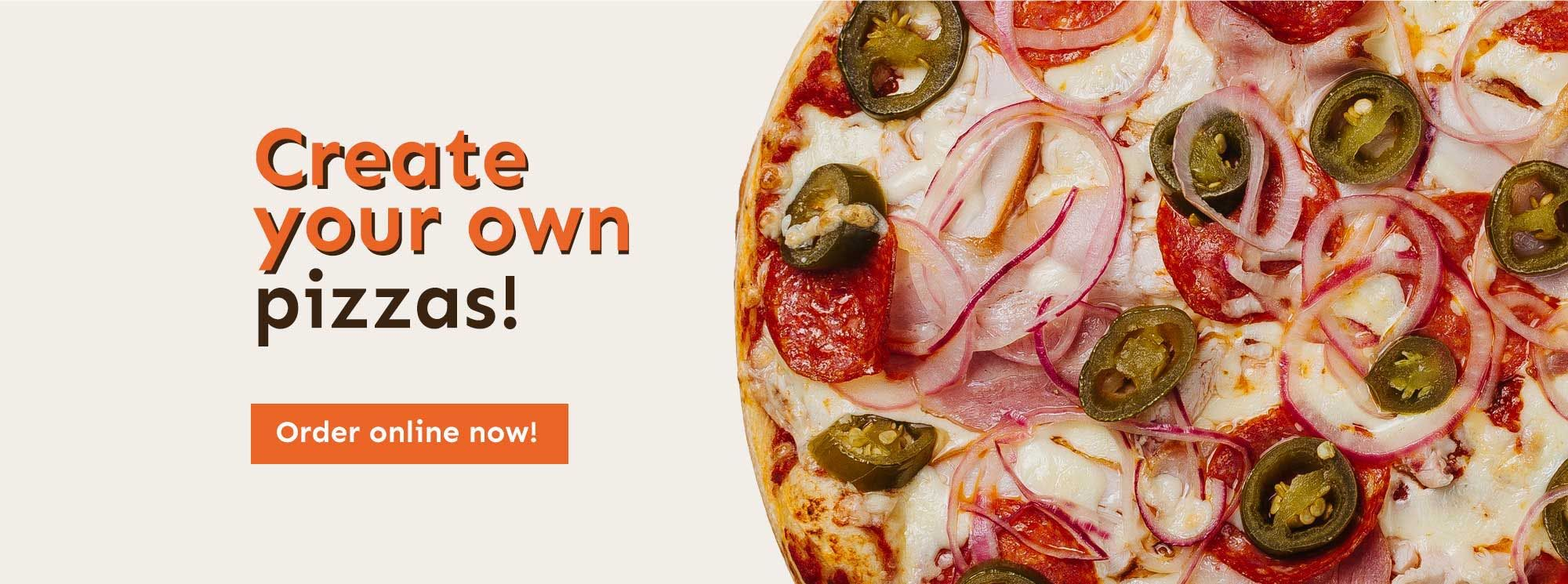 Create your own pizza at Tubbys