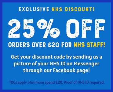 25% OFF £20 for NHS Workers! Send us a picture of your NHS ID through Messenger on our Facebook page to get a code.