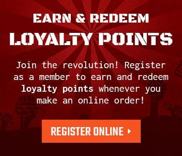 Earn and redeem loyalty points whenever you make an online order! Register now!