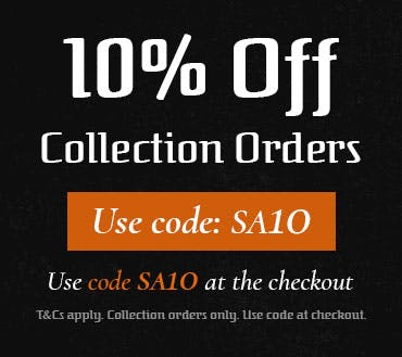 Get 10% off collection orders when you use code SA10 at the checkout! T&Cs apply.